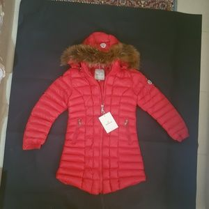 moncler jacket fox fur hoodie coat
